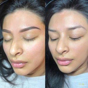 ombre brows resultaat