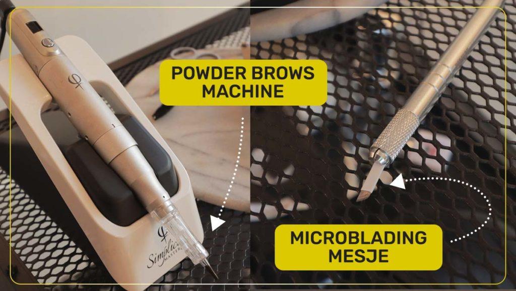 powder brows machine en microlading mesje
